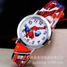 Spider Man Cartoon Watch Children Kids Wristwatch Boys Clock