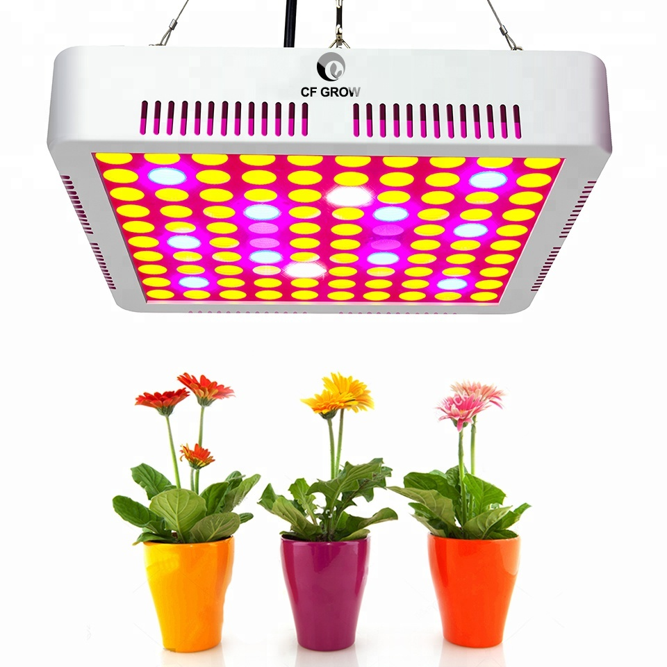 CF Grow 300W Panel LED Grow Light 7 bands 100pcs SMD3030 Full Spectrum Plant Grow Lamp for Indoor Greenhouse Hydroponics Growing