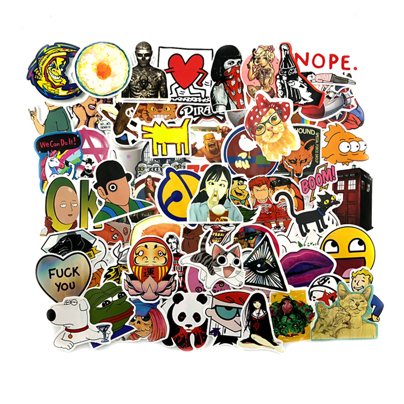 1200PCS Cute Animal Sticker Luggage Skateboard Doodle Vinyl Decals Car Styling Laptop Bike Toy Waterproof DIY JDM Stickers