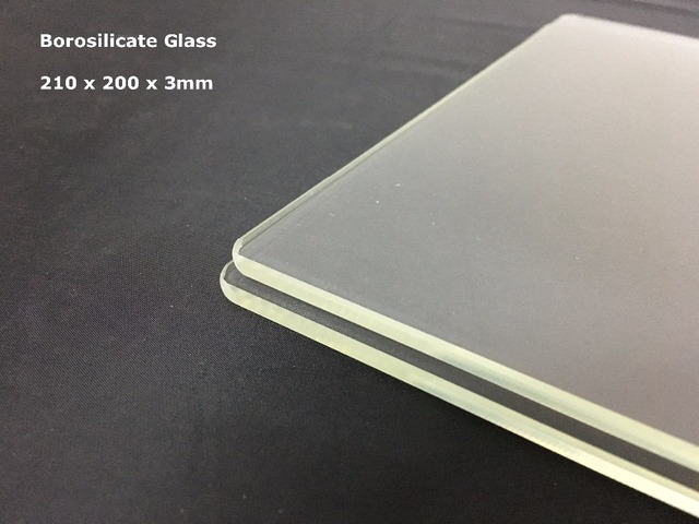 3d Printer Build Plate 3d Printer Glass Plate 210 x 200 x 3mm 3d Printer Borosilicate Glass Plate