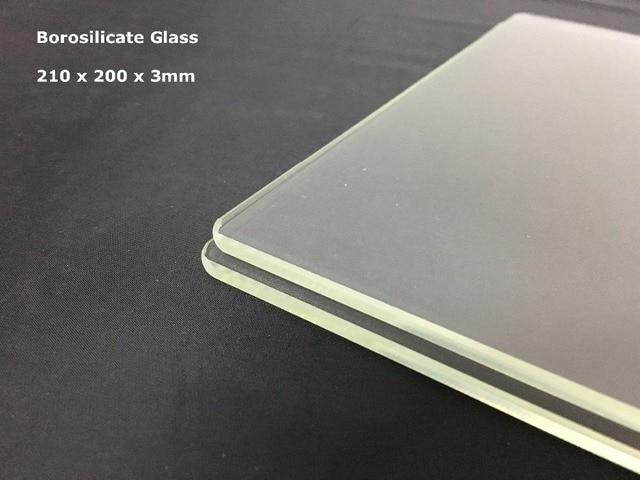Imprimante 3d plaque de construction imprimante 3d plaque de verre 210x200x3mm imprimante 3d plaque de verre Borosilicate