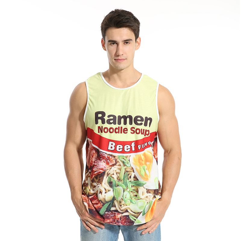 33488eb28a90a hot sale New fashion 3D men s food print 9 size casual Tanktop custom made  print drop shipping free shipping-in Tank Tops from Men s Clothing on ...