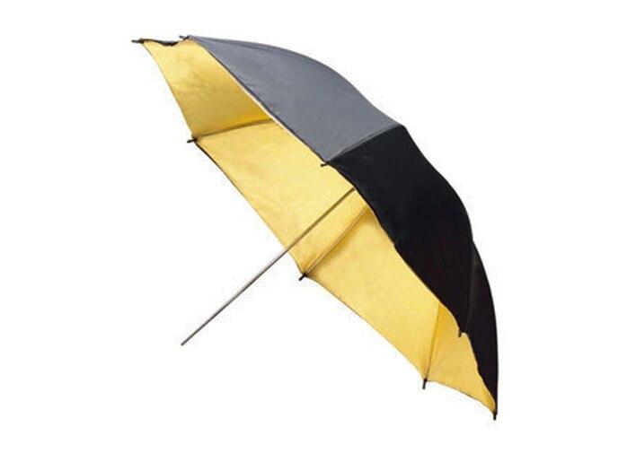 Wholesale FOTGA 3383cm Photo Studio Flash Light Reflector Reflective Black Gold Golden Umbrella