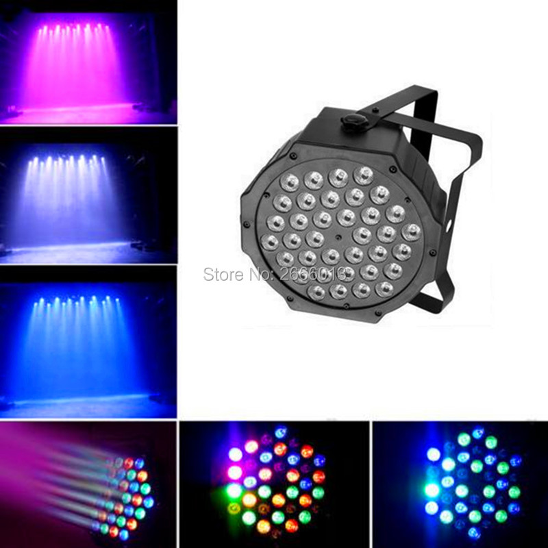 36X3W Flat LED Par RGB DMX512 Disco Lamp stage light Voice activated For dj Discos Music Light Disco Bulb effetto luci discoteca led par stage light dj disco with music activated auto run and dmx512 control mode different colors combinations of rgb rotating
