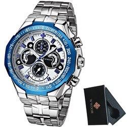 Relogio masculino 2017 wwoor mens đồng hồ top brand luxury casual quartz watch men full thép 5atm thể thao quân đồng hồ đeo tay