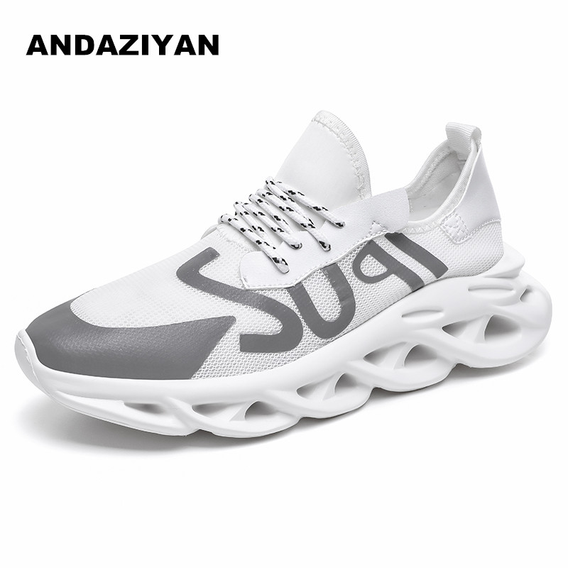 9ec5b3a9 White/black Men shoes on sale breathable comfortable flat sports shoes  outdoor walking hogging