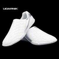 Unisex Kid Kickboxing Tae Kwon do Sztuk Walki Buty Sportowe białe Chińskie Kung Fu Tai Chi Trenera Tenisówka Rozmiar 37-46 041-796