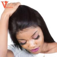 360 кружева фронтальной с Комплект прямо бразильский плетение волос Комплект S с закрытием 100% 3 человеческих волос Комплект S с застежка venvee