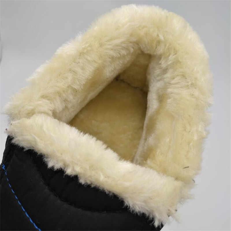 Büyük boy 35-44 peluş kadın ayakkabı kış çift unisex kar botları sıcak kürk günlük çizmeler kadınlar üzerinde kayma anne kış ayakkabı WSH3139