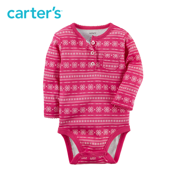 Carter's 1-Piece baby children kids clothing Girl Spring& Summer Fair Isle Collectible Bodysuit 118H731