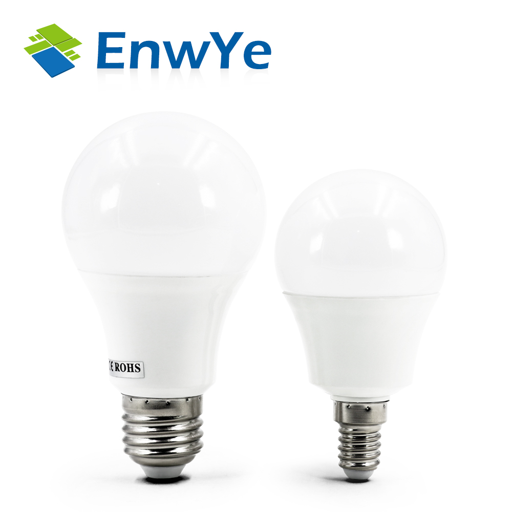 EnwYe LED E14 LED lamp E27 LED bulb AC 220V 230V 240V 15W 12W 9W 7W 5W 4W 3W Lampada LED Spotlight Table lamp Lamps light