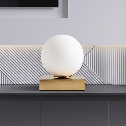 Nordic Creative LED Desk Lamp Glass Ball Modern Table Lamp Warm Fixture For Home Lightings Study Room Cafe Bar Luminaria De Mesa
