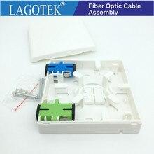 Boîte à bornes FTTH 5 pc/lot avec adaptateur SC boîte de jonction en PVC de type 86