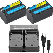 Para sony NP F770 np f750 np f770 bateria para sony CCD RV100 CCD RV200 sc5 tr940 tr917 câmera CN 216 CN 304 yn300 vl600 led vídeo