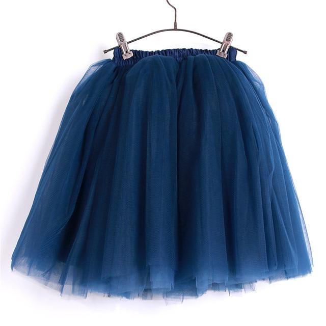 Puffy Petite Tulle Skirt Teen Girls Dance Tutu Textured Tulle Skirt Bachelorette Party Birthday Outfit in Navy Blue Custom Made