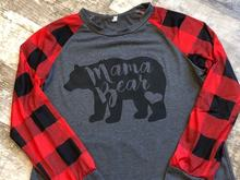 5c51fcd8 MAMA BEAR Plaid Print Tshirt Casual Crewneck Full Sleeve For Women T shirt  Long Sleeve Female
