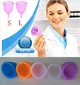 Nuevo 2 unids higiene femenina productos de cuidado de la vagina/dama copa menstrual/alternative tampones médicos tazas de silicona Seguridad de la señora taza