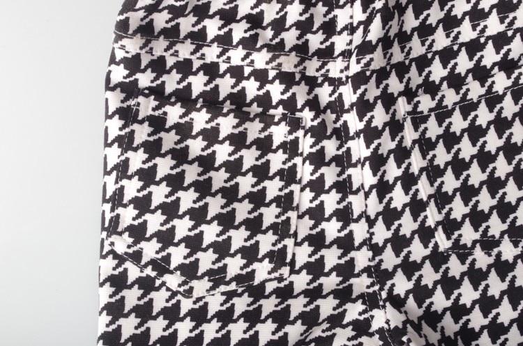 Весенне-осенние брюки-карандаш для девочек; леггинсы в ломаную клетку для девочек; классические узкие брюки с эластичной резинкой на талии