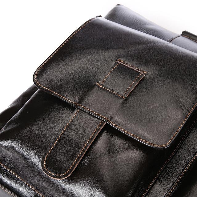 HIGHGRADE Men Genuine Leather Business Briefcase