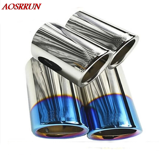 цены For Audi A1 A3 A4 A5 A6 Q3 Q5 High quality Stainless steel Car exhaust pipe cover muffler pipe tip accessories car-styling for
