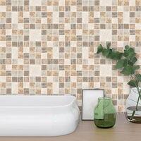 90PCS 10X10CM Kitchen Bathroom Tiles Mosaic Stickers Self-adhesive Waterproof Home Wall Decor 10 Styles