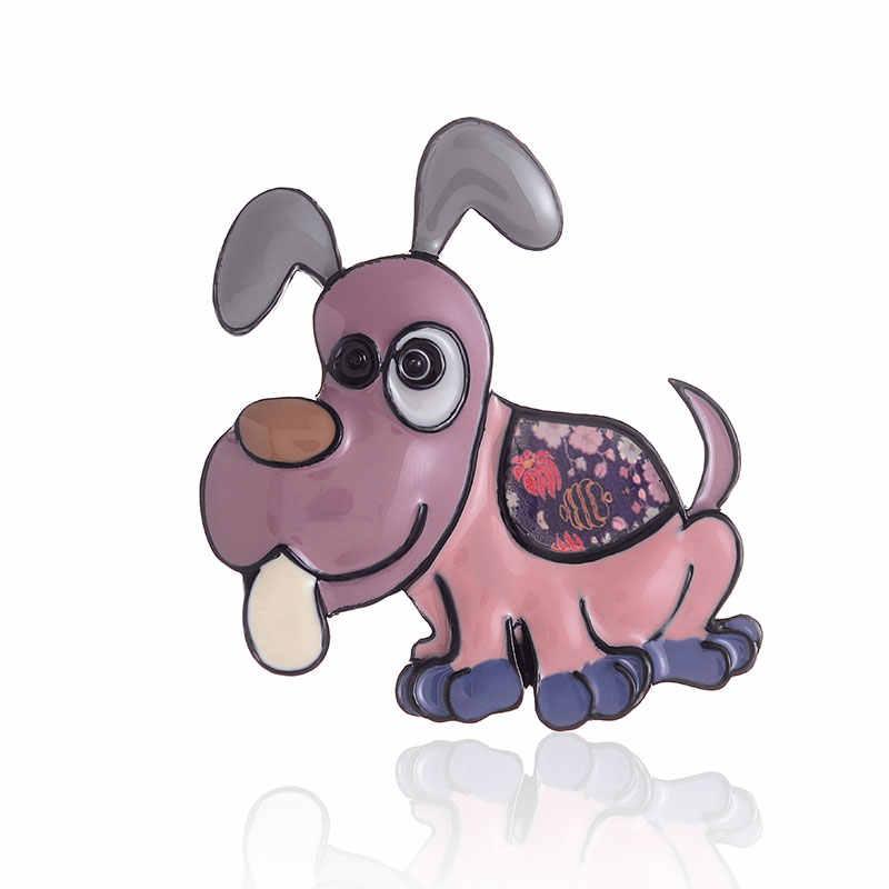 2019 ใหม่มาถึง Enamel Brooches สำหรับผู้หญิงอินเทรนด์ Chic Little สุนัขการ์ตูนเข็มกลัดเข็มกลัดแฟชั่นเครื่องประดับน่ารักสัตว์อุปกรณ์เสริม