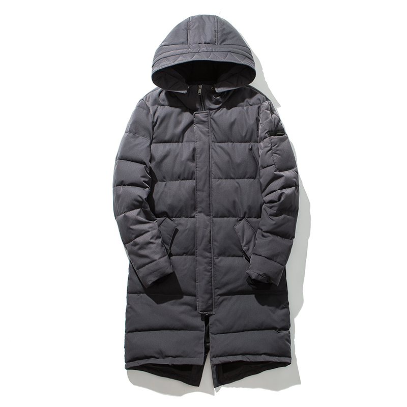 2017 New Clothing Jackets Long Thick Winter Coat Men Solid Parka Fashion Overcoat Outerwear Warm Army Jackets And Coats For Man new men s military style casual fashion canvas outdoor camping travel hooded trench coat outerwear mens army parka long jackets