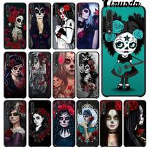 Yinuoda Catrina beautiful rose girl Skull Art Black Cell Phone Case for Huawei P20 Pro P10 Plus P9 Mate 10 Lite Mobile Cases(China)