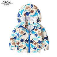 CROAL CHERIE mignon dinosaure girafe enfants manteau pour garçons automne enfants veste garçons vêtements d'extérieur dessin animé enfants actifs vêtements