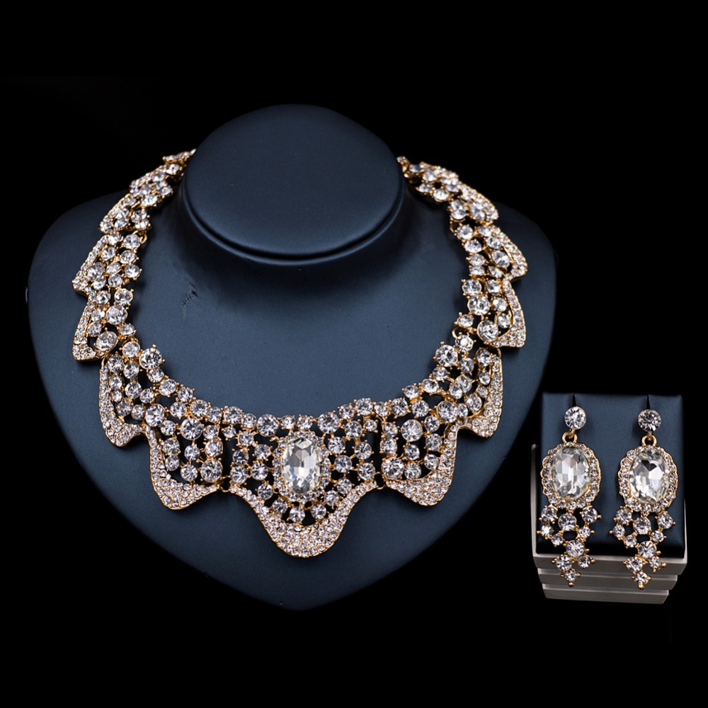 LAN PALACE new arrivals ladies jewellery sets austrian crystal necklace and earrings jewelry turkey jewelry free shipping