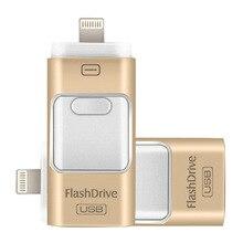 Kimsnot USB Flash Drive OTG Mini Pen Drives 128 ГБ 64 ГБ 32 Г 16 ГБ 8 ГБ Для iPhone 7 6 5 6s плюс/iPad/iPod HD Memory Stick Android