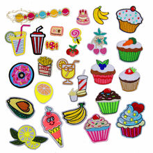 1 stks Cupcakes Bananen Sap Snoep geborduurde iron patches doek accessoires tas hoed reparatie Applicaties telefoon decor diy(China)