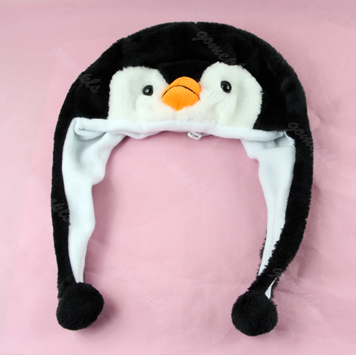 1PCS Cartoon Animal Penguin Mascot Plush Warm Cap Hat Warmer New QTYZ942