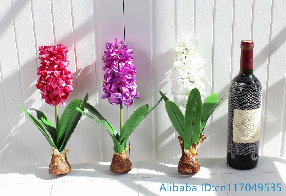 1 UNIDS Flor Artificial Jacinto con Bulbo Home Garden Decoration F367