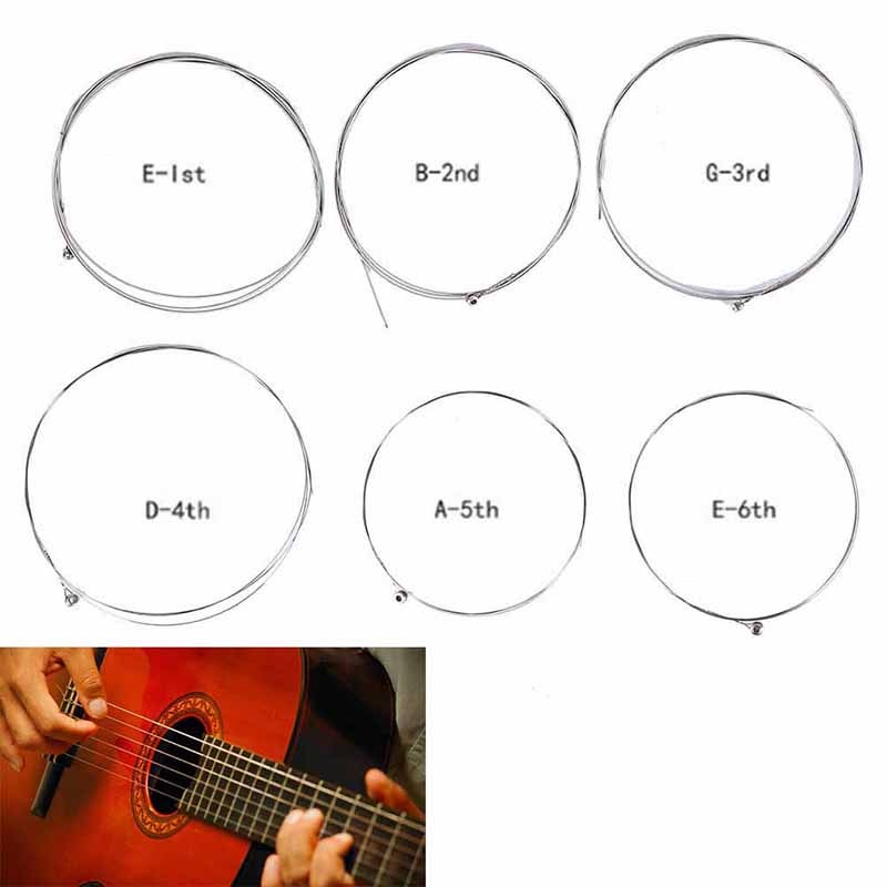 Acoustic Guitar String 1pc Silver Pure Strigning For Guitarra Bass Parts & Accessories Strings For Acoustic Guitars