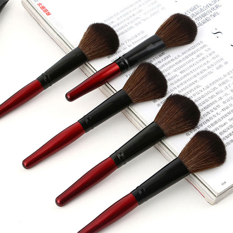 MECOLOR Wooden Handle Makeup Brushes set tools For Face Powder Blusher Foundation eye cosmetics brush Beauty kits 2
