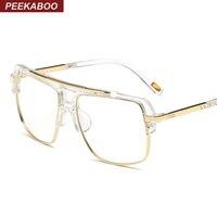 Peekaboo Big Fashion Eye Glasses Frames For Men Brand Black Clear Frame Latest Male Spectacle Frames