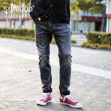 SIMWOOD 2020 ฤดูใบไม้ผลิใหม่รอยขีดข่วนกางเกงยีนส์ผู้ชายกางเกงยีนส์ DENIM กางเกงชาย SLIM FIT PLUS ขนาดเสื้อผ้าแบรนด์ NC017016