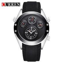 2016 reloj de Cuarzo de Los Hombres LED Reloj Negro Cronógrafo Reloj Militar 3ATM Impermeable Del Cuarzo de Japón Movt de Acero Inoxidable 8141