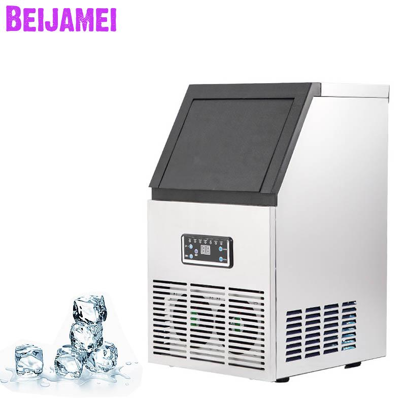 BEIJAMEI Hot Sale Automatic Ice Maker/Electric Ice Cube Maker/ Ice Making Machine For Making Ice Cube Milk Tea ShopBEIJAMEI Hot Sale Automatic Ice Maker/Electric Ice Cube Maker/ Ice Making Machine For Making Ice Cube Milk Tea Shop