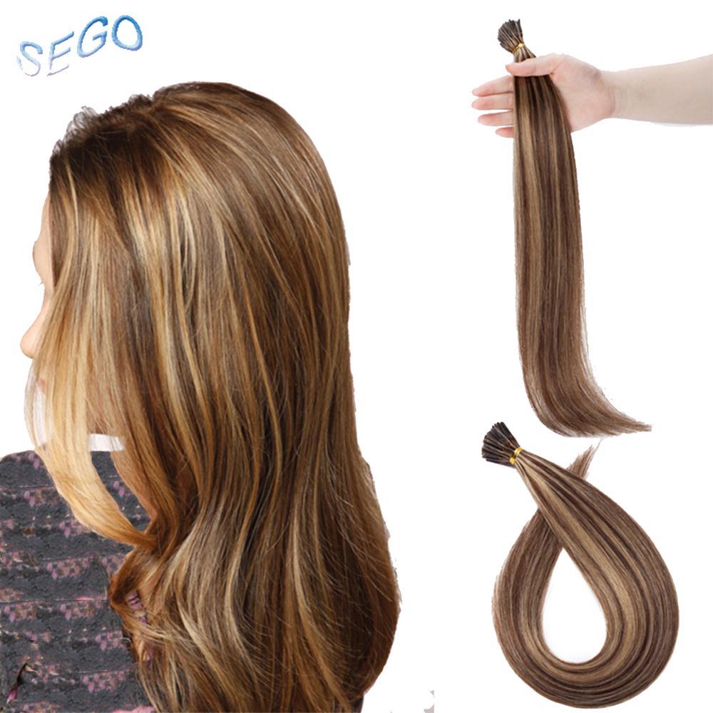 Brillant Sego16''18''20''22''24''straight Menschen Vor Verbundenes Fusion Haar Verlängerung I Spitze Stick Keratin Doppel Gezogen Nicht-remy Haar Verlängerung Vertrieb Von QualitäTssicherung
