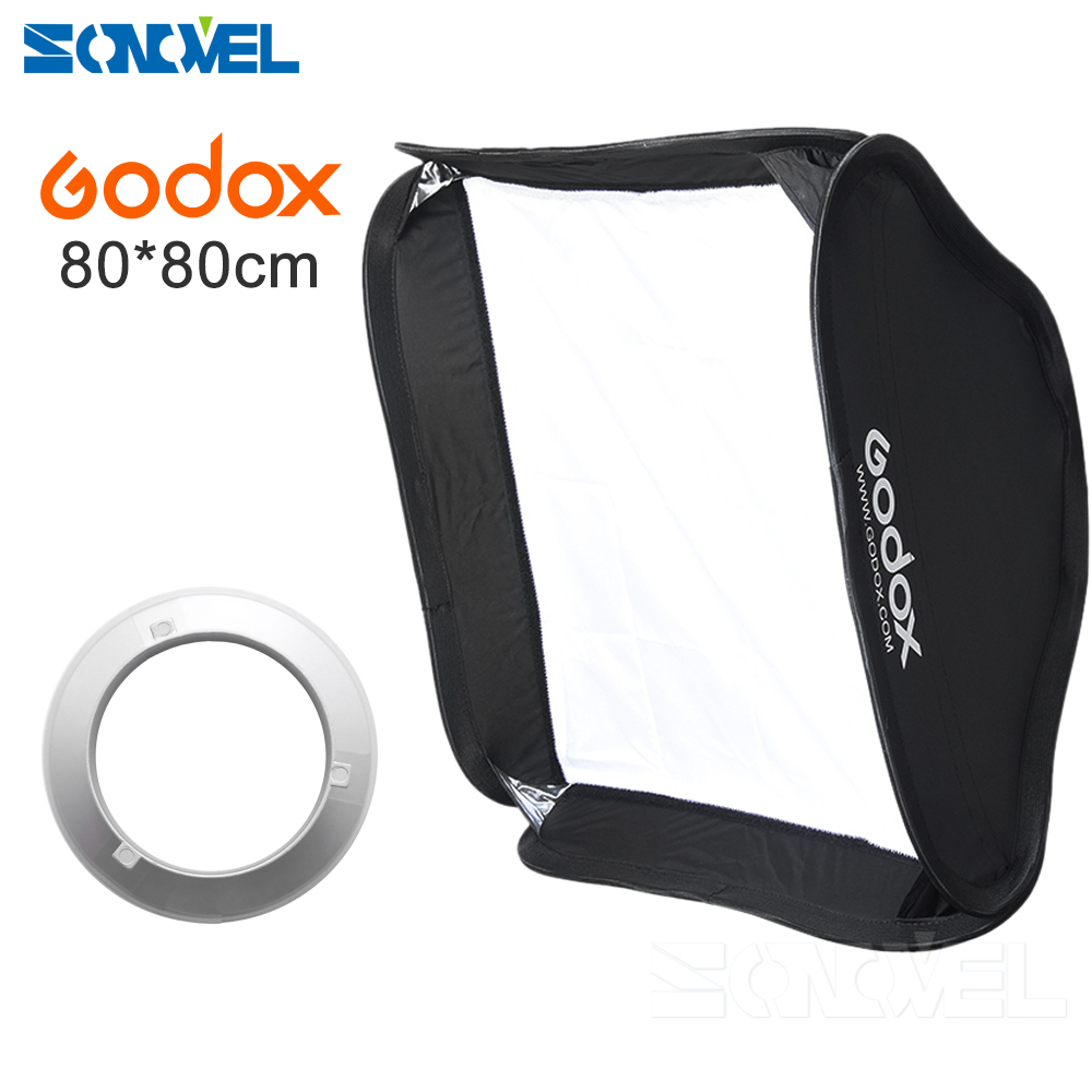 Godox 80 x 80cm 31.5x31.5 Collapsible Flash Softbox Diffuser Bowens Mount for Godox AD600B AD600BM godox ad360 camera outdoor shooting flash kit ad 360 360w flash ft 16 wireless trigger ad s17 diffuser 60 60cm softbox