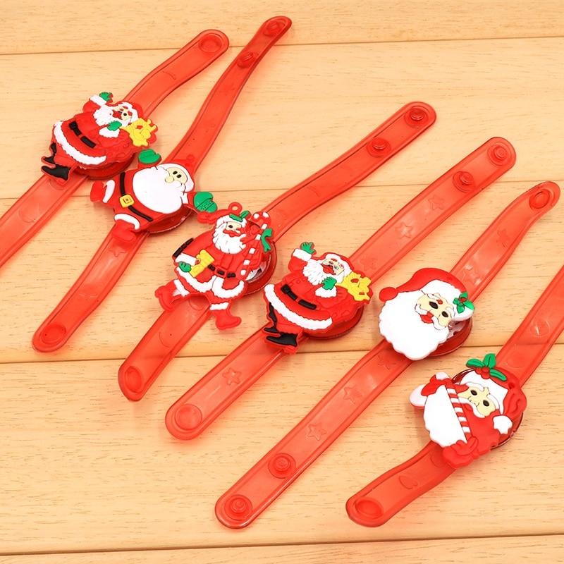 Christmas Gift Children Luminescent Bracelet Luminous Christmas Brcacelet Light-emitting Kids Christmas Bracelet Gifts For Kids