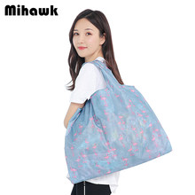Mihawk Tote Bag Large Foldable Shopping Bags Store Grocery Pouch Oxford Household Reusable Packages Supplies Stuff Gear Products(China)