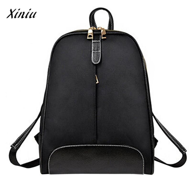 xiniu Backpacks Womens bags for women 2017 Leather Backpack Fashion Travel School Bag Shoulder Satchel bolsa feminina