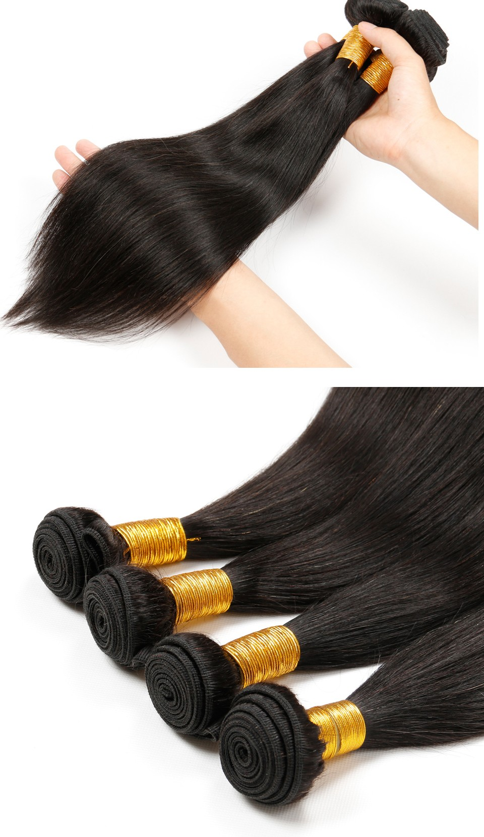 Brazilian Virgin Hair Straight 4 Bundles (6)