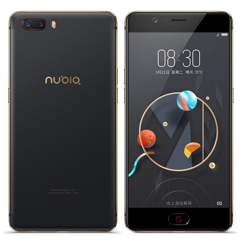 ZTE Nubia M2 4G Snapdragon 625 Octa Core Mobile Phone 5.5 AMOLED 4GB+64GB 16MP+13MP OTG 3630mAh Fingerprint Touch ID SmartPhone