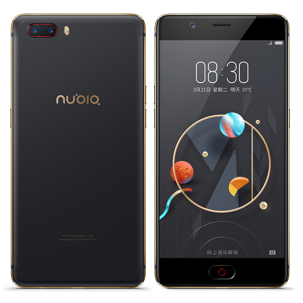 ZTE Nubia M2 4g Snapdragon 625 Octa Noyau Mobile Téléphone 5.5 AMOLED 4 gb + 64 gb 16MP + 13MP OTG 3630 mah D'empreintes Digitales Tactile ID SmartPhone