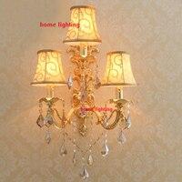 Flush mount arandelas led três luzes vela parede moderna arandelas de parede de iluminação original arandela acabamento de ouro lâmpada de parede