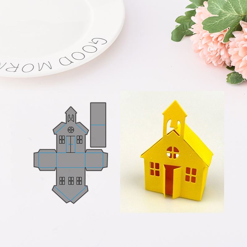 JCarter Lovely Home 3D Houses Metal Cutting Dies Stencils for Scrapbooking DIY Embossing Folder Paper Card Handmade Album Crafts in Cutting Dies from Home Garden